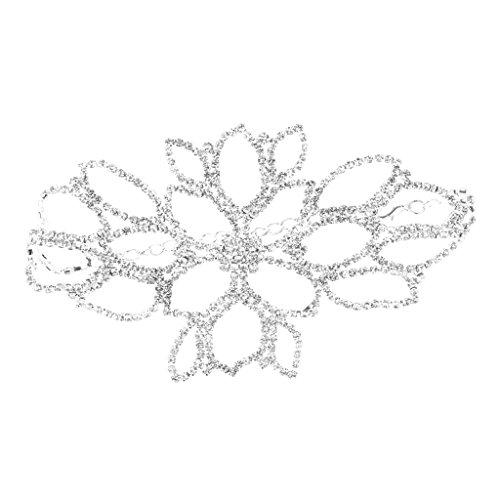 Baoblaze Hochzeit Braut Schmuck Damen Oberarmkette Armkette Armband Armreif für Oberarm, Fuß Kette, Silber Kristall