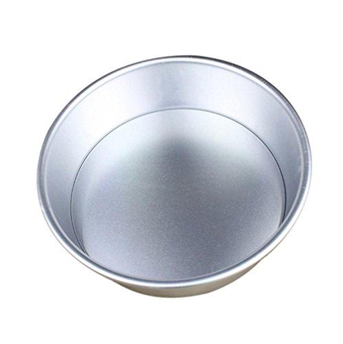 Winkey Kuchen-Form-2/3/6/7/8Zoll runde Aluminium mit Kuchen Backen Form Pfanne Bakeware, Aluminiumlegierung, silber, 20 cm