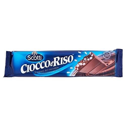 Riso Scotti Cioccolato al Latte con Riso Soffiato ed Estruso - 100 gr
