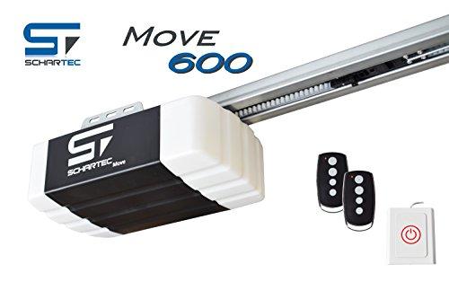 Schartec Move 600 Garagentorantrieb Serie 2 Set inkl. 2 Handsender und Schiene - elektrischer Torantrieb - Garagentoröffner für Schwingtor und Sektionaltor Garagentor Antrieb