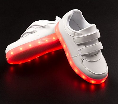 Bitblin-Glow-Flow-Zapatillas-Deportivas-LED-Unisex-Nios
