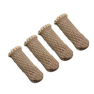 awhao 4 Stück Stuhlbein Socken gestrickte Möbel Socken Booties Bodenprotektoren