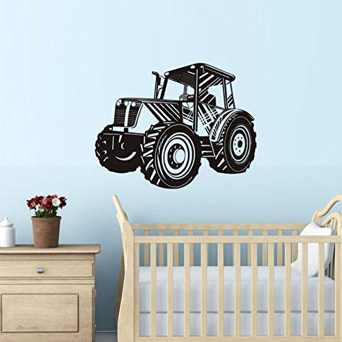 YXWYL Traktor Wandaufkleber Für Kinderzimmer Schlafzimmer Abnehmbare Vinyl Wasserdichte Wandkunst Aufkleber Tapete Dekoration Zubehör