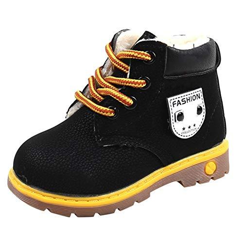Beikoard_Babykleidung Plus Baumwolle gepolsterte Booties mit britischen Wind Stiefel Schneeschuhe Schuhe Sneaker Kinder Baby ()