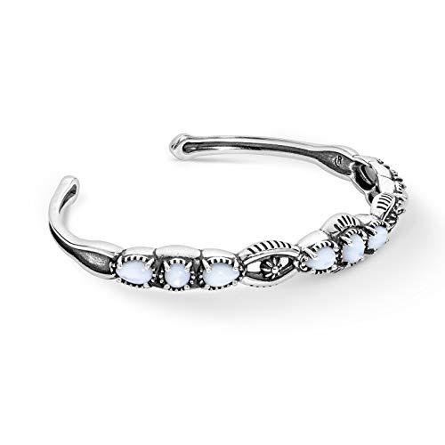925 Silber Größen S M L Perlmutt Grün Türkis Rot Koralle Schwarz Achat Armband
