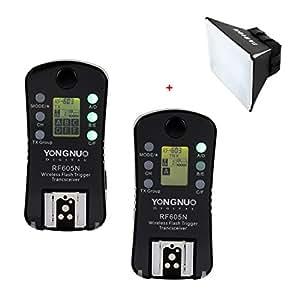 Yongnuo RF605N double-LCD 2,4 GHz FSK 16 canali trigger senza fill trasmittente-ricevitore + TARION softbox per Nikon F6,F5,F90,F90X,F100,D3,D1,D1H,D1X,D2,D2H,D2X,D3,D3X,D100,D200,D300,D700,D300S D90,D3100,D5000,D7000