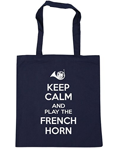 hippowarehouse-keep-calm-and-play-the-french-horn-tote-shopping-gym-beach-bag-42cm-x38cm-10-litres
