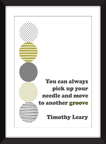 Vintage Timothy Leary Turn On Tune In Drop Out Poster Print A3//A4