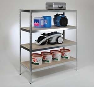 tkt xxl weitspannregal 180x160x60 cm 4 b den verzinkt baumarkt. Black Bedroom Furniture Sets. Home Design Ideas