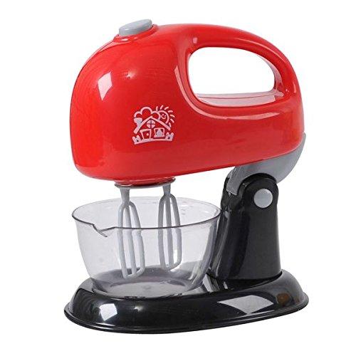 Preisvergleich Produktbild Playgo Mixer Handmixer Standmixer mit Rührschüssel reale Funktionen rot