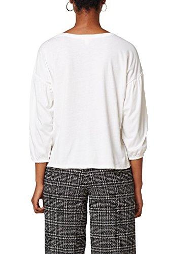 Esprit T-Shirt à Manches Longues Femme Blanc (Off White 110)