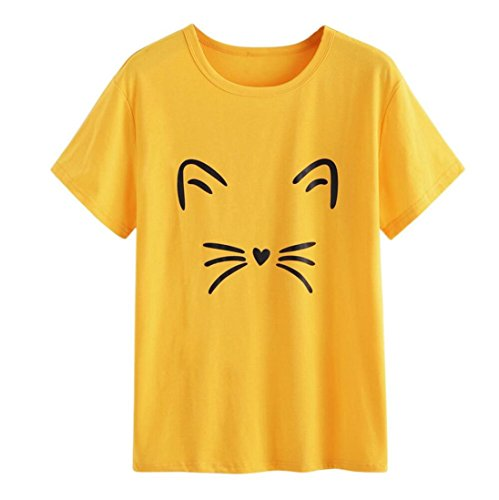 FAMILIZO Camisetas Mujer Manga Corta Camisetas Mujer Tallas Grandes Camisetas Mujer Verano Blusa Mujer Sport Tops Mujer Verano Casual Blusa (XL, Amarillo)