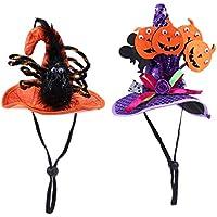 POPETPOP Mascotas Sombrero Gorros Disfraz de Halloween para Perro Disfraz de Gorro para pequeñas y Medianas 2 Piezas