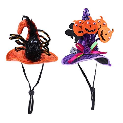 opfbedeckung Katze Hund Halloween Kostüm Hut Kostüm für Kleine bis mittlere 2Pcs ()
