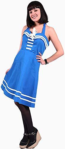 Dead Threads Blau Nautisch Matrose Neckholder Kostüm - Blau, (Dead Sailor Kostüm)