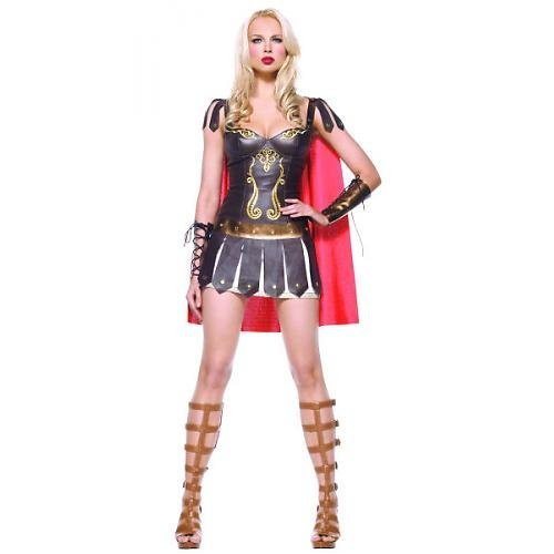 Leg Avenue - 3-teilig - Sexy Kriegerin Kostüm - M - Braun - (Kriegerin Kostüm)