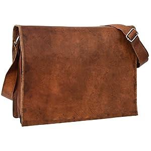 Gusti Borsa a tracolla Max Borsa per laptop 15,4 pollici borsa da spalla da uomo e da donna in vera pelle marrone