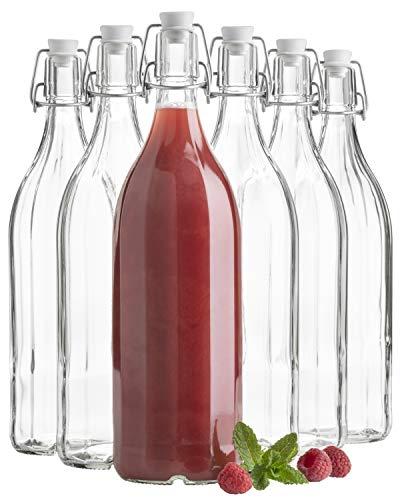 erie Bügel, Flasche 1 L, mit Bügelverschluss, 10-Kant, im 6er-Set ()