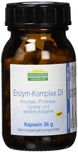 Heidelberger Chlorella - Enzym-Komplex DI Kapseln, vegan, aus Amylase, Protease, Lipase, hochdosiert, gute Bioverfügbarkeit, 36 g, 60 Kapseln