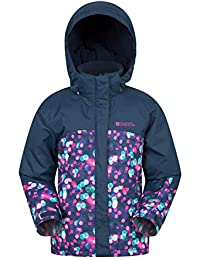 Mountain Warehouse Chaqueta de esquí para niños Impresa Night Light - Chubasquero Impermeable, Falda de