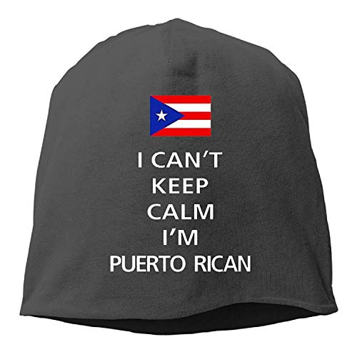 I Can't Keep Calm I'm Puerto Rican Winter Beanie Skull Cap Warm Knit Ski Slouchy Hat Durable
