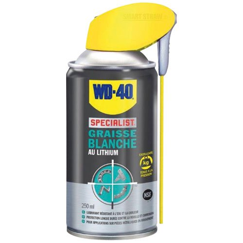 WD-40 Specialist Graisse Blanche au Lithium Aérosol Double Position 250 ml