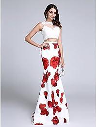 HY&OB Joya De Trompeta / Sirena Cuello Barrer / Cepillo Tren Vestido De Noche Formal Prom