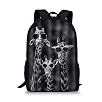 Showudesigns Animal Print Backpacks for School Boys Girls Rucksack Kids School Bag with Pockeet