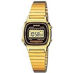Casio LA-670WG-1 - Reloj Digital de Cuarzo para Mujer con Correa de Metal, Color Dorado