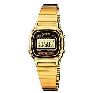 Casio LA-670WG-1 – Reloj Digital de Cuarzo para Mujer con Correa de Metal, Color Dorado