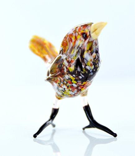 Spatz Figur aus Glas - Glasfigur Sperling - Vogel Singvogel 5-4 - Deko