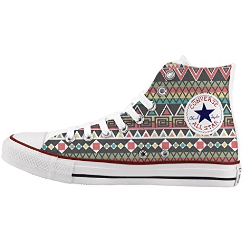 Converse All Star Star Star Personnalis eacute; et imprim eacute;s - chaussures agrave; la main Young tribal - B01DV6EJC4 - 2f88ff