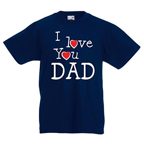 lepni.me Kinder T-Shirt Ich liebe dich Vati - für Vater, Ehemann, Großvater (5-6 years Dunkelblau Mehrfarben) (Jungen Jugend Golf-clubs)