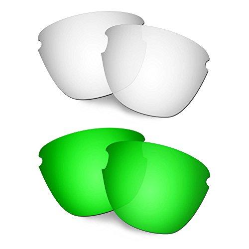 HKUCO Verstärken Ersatz-Brillengläser für Oakley Frogskins Lite Titan/Grün Sonnenbrille