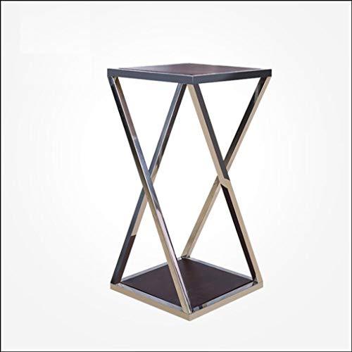 QYSZYG Edelstahl blumenständer Boden schmiedeeisen betriebsrahmen/kann als Wohnzimmer lagerung Regal Home Decoration/Gold Silber verwendet Werden Blumenständer (Farbe : Silber, größe : 60cm)