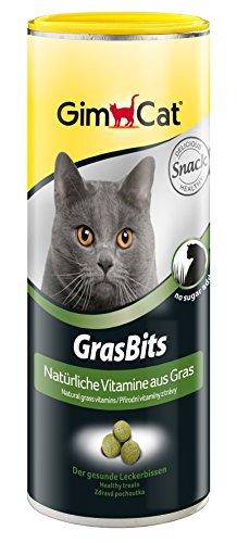 GimCat GrasBits | mit natürlichen Vitaminen und Nährstoffen aus getrocknetem Gras | ohne Zuckerzusatz | 1 Dose (1 x 425 g)