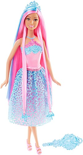 Barbie DKB61 - Dreamtopia Principessa Chioma da Favola, Celeste