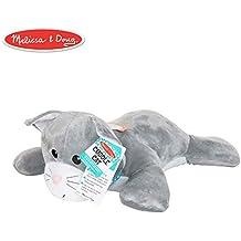 Melissa & Doug 40704 Puppets Cuddle Cat Jumbo Plush Stuffed Animal (Reusable Activity Card, Nametag), Multi-Colour