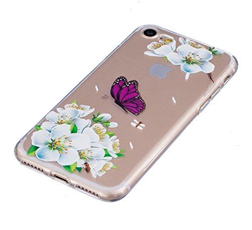 HLZDH Etui Coque TPU Slim Bumper pour iPhone 7 Souple Housse de Protection Flexible Soft Case Cas Couverture Anti Choc Haute Qualité Mince Légère Transparente Silicone Cover pour iPhone 7(4,7 pouces)  image-4