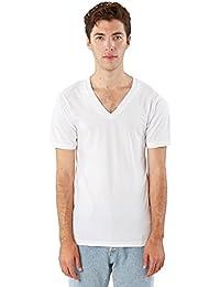 American Apparel Men's Fine Jersey Short Sleeve V-Neck