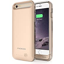[Apple MFi Zertifiziert] MoKo 4000mAh Power Bank Akku Hülle Aufladbare Externe Batterie Ladehülle Backup Smart Battery Case Cover für Smartphone Apple iPhone 6s Plus / 6 Plus 5.5 Zoll, Golden
