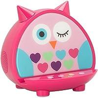KitSound Universal Wireless Bluetooth Speaker Dock KSMDKDOWWW Kids Owl Rack with Audio Input