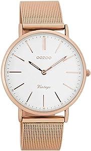 Oozoo Reloj Digital de Cuarzo para Mujer con Correa de Acero Inoxidable – C7398 de Oozoo