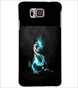PrintDhaba Dragon D-1965 Back Case Cover for SAMSUNG GALAXY ALPHA (Multi-Coloured)