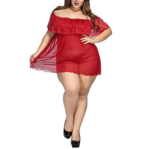 MGIGI Sexy sexy Dessous heißen Erwachsenen transparente Spitze Versuchung Größe Pyjama dünnes Nachthemd