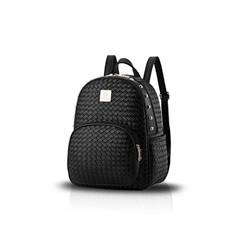 Sunas Il nuovo sacchetto di spalla del sacchetto di spalla del sacchetto di spalla del tessuto di cuoio dell'unità di elaborazione del sacchetto di spalla rivetta il nuovo nero