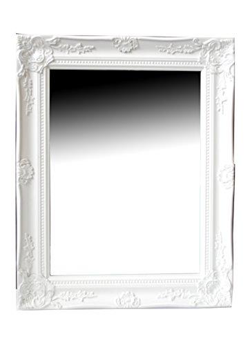 Spiegel Wandspiegel Flurspiegel FIONA weiß Barock 46,5 x 37 cm
