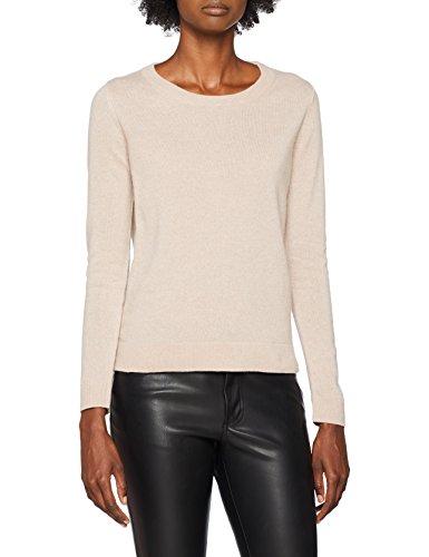 SELECTED FEMME Damen Pullover SLFAYA Cashmere LS Knit O-Neck NOOS, Rosa Adobe Rose, 38 (Herstellergröße: M)