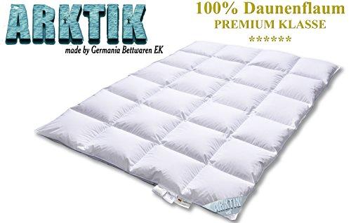 ARKTIK Premium Luxus extra warm Winterbett Daunendecke Flaum 100% Daune Wärme 6 -Made Germany 1947 - Größe 135x200 cm