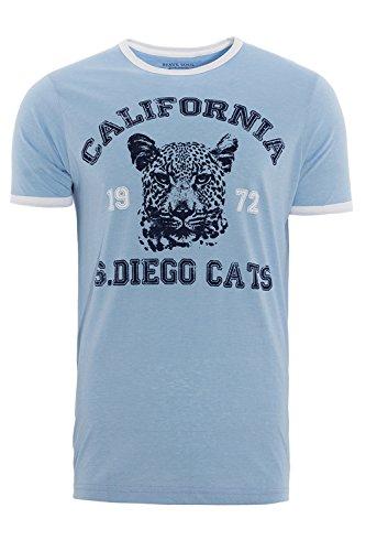 Brave Soul Herren T-Shirt weiß weiß Himmelblau